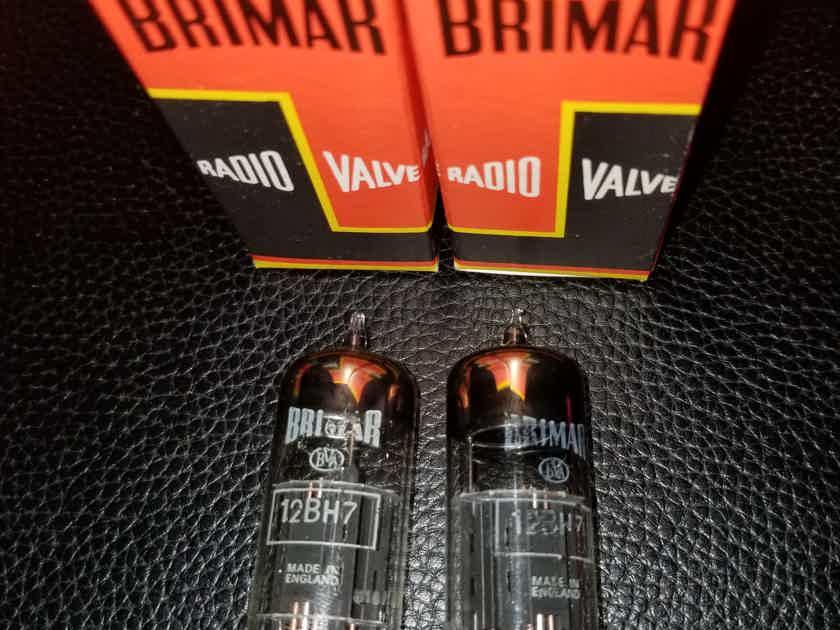 Brimar 12BH7/CV5042 NOS BLACKPLATES NOS PAIR 2x12BH7/CV5042 BIG HALO GETTER PRICE DROP