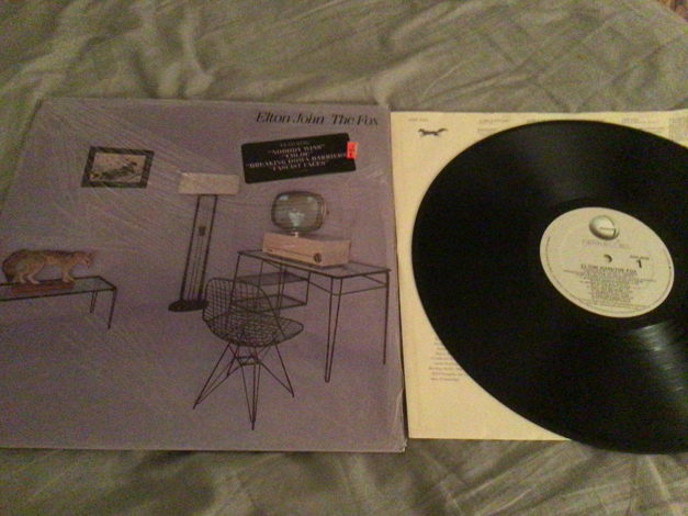 Elton John Rocket Records With Hyper Sticker