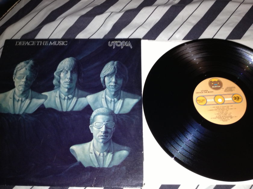 Utopia - Deface The Music LP NM