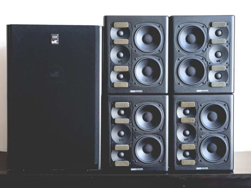 Miller and Kreisel THX MPS-2510p active speakers and MPS-5310 subwoofer - (6.1, 5.1, 4.1, etc surround system)