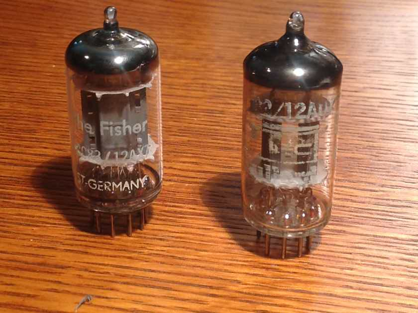 Fisher Branded Telefunken 12AX7 & IEC Branded Mullard 12AU7 Tubes - Tested