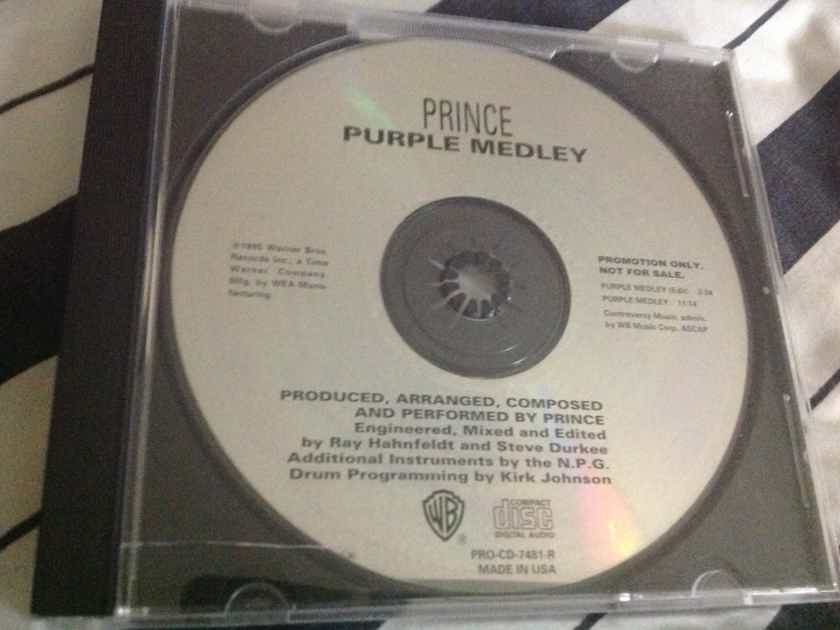 Prince - Purple Medley 2 Track Promo Compact Disc Warner Brothers Records