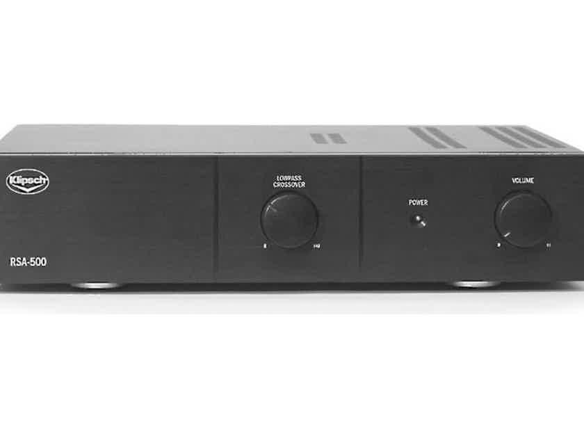 Klipsch RSA-500 Subwoofer Amplifier; RSA500 (New / Open Box) (27551)