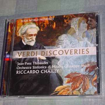 SEALED CD  Verdi Discoveries  Jean Yves Thibaudet Riccardo Chailly
