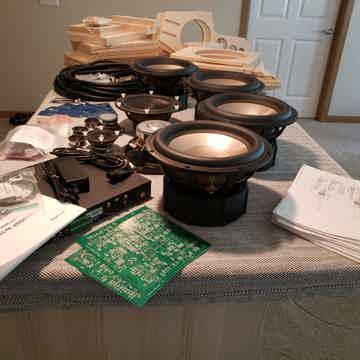 Linkwitz Lab LX521.4 DIY open baffle speaker system kit