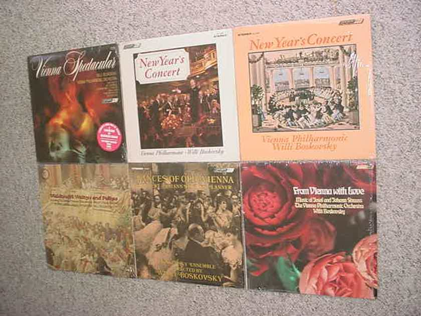 Willi Boskovsky classical -  lot of 5 lp records 2 are sealed