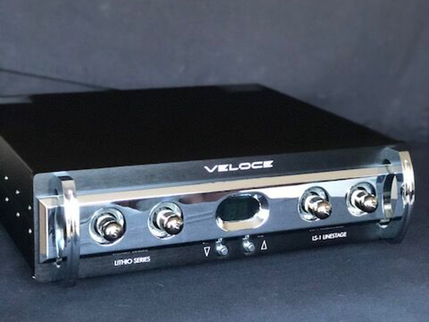 Veloce Audio LS-1 Linestage Litho Series, Hybrid tube with battery power supply