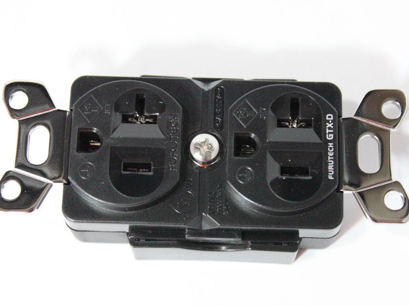 Furutech GTX-D  Rhodium plated duplex outlet - open box