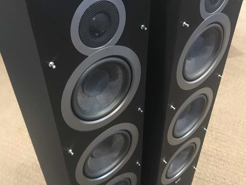 Elac Debut F6 Floorstanding Speakers - Black Satin - DEMO