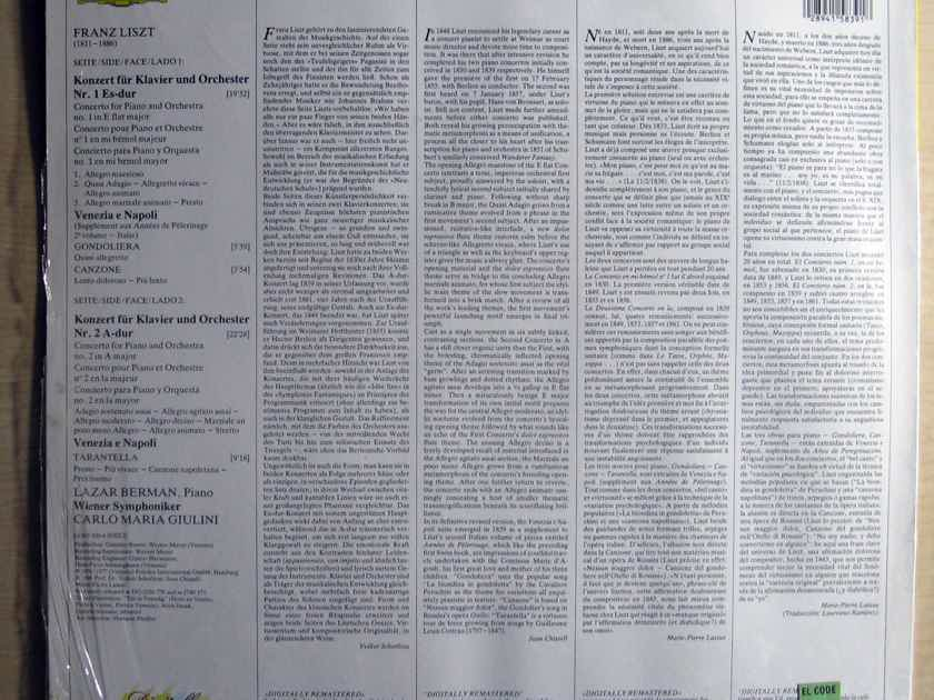 "Franz Liszt - Lazar Berman / Wiener Symphoniker - Klavierkonzerte Nr. 1 & 2 / ""Venezia E Napoli""  - 1986 Deutsche Grammophon 415 839-1"