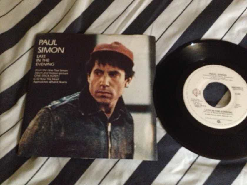 Paul Simon - Late In The Evening Warner Brothers Records 45 Single With Picture Sleeve NM