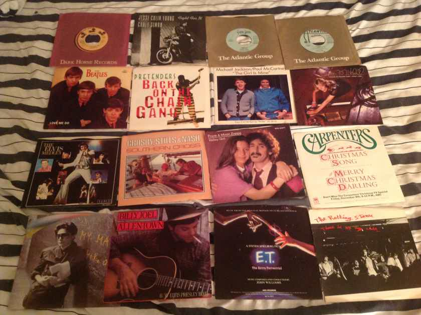 Various Lot Of 16 Singles Promos Some With Picture Sleeves  Various
