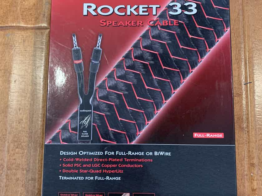 AudioQuest Rocket 33 Speaker Cable - 6ft Pair, Spade, NEW IN BOX!