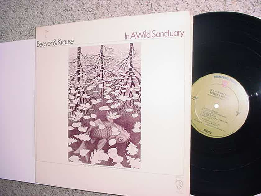 Beaver & Krause lp record In A Wild Sanctuary WB 1850 STEREO