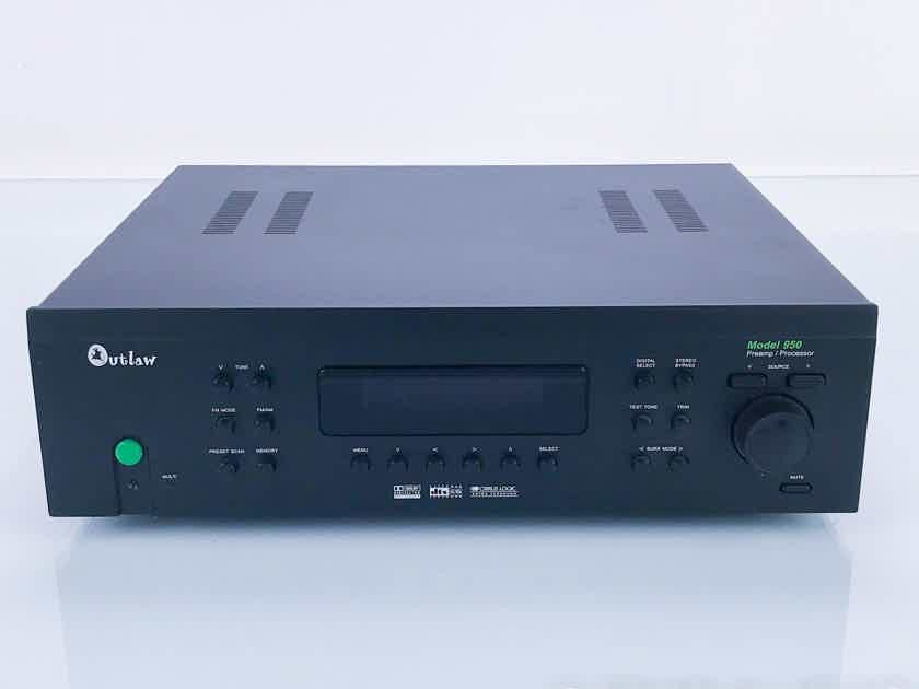 Outlaw Model 950 7.1 Channel Home Theater Processor Preamplifier; Remote (16715)