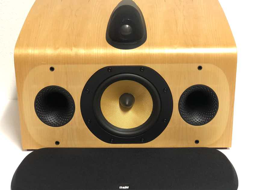 B&W Bowers and Wilkins HTM 7 2-Way Center Channel Home Theater Speaker MAPLE FINISH