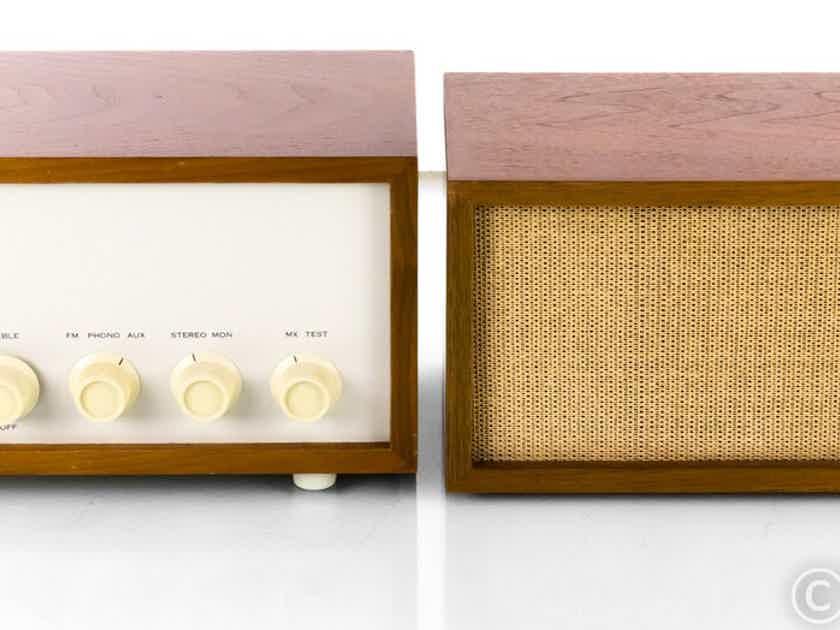 KLH Model 13 Vintage Stereo Preamplifier w/ Speaker; Walnut Cabinet; Kloss (22755)