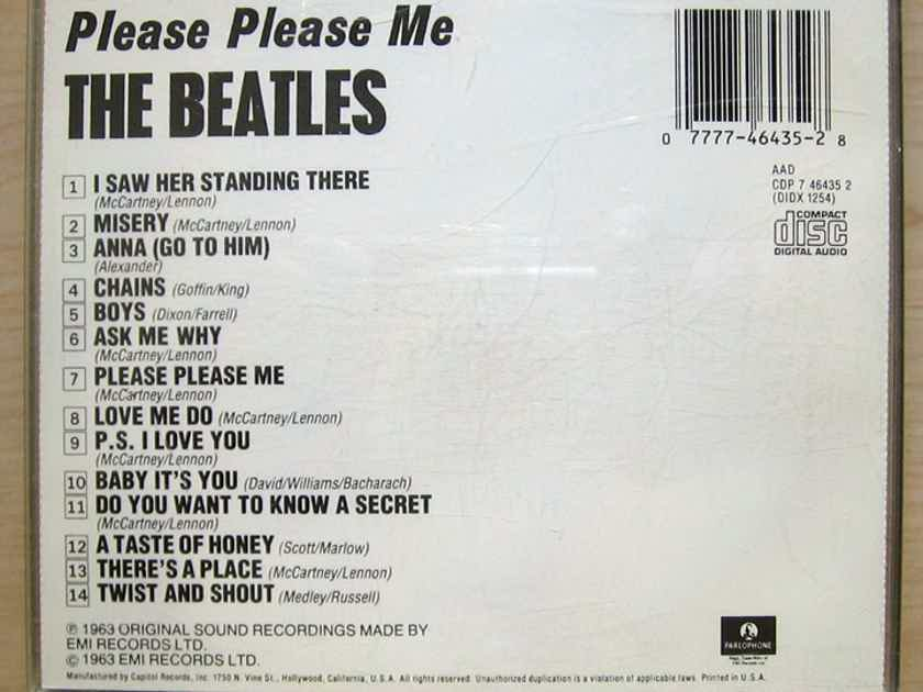 The Beatles - Please Please Me  - 1992 Mono Reissue Capitol Records CDP 7 46435 2