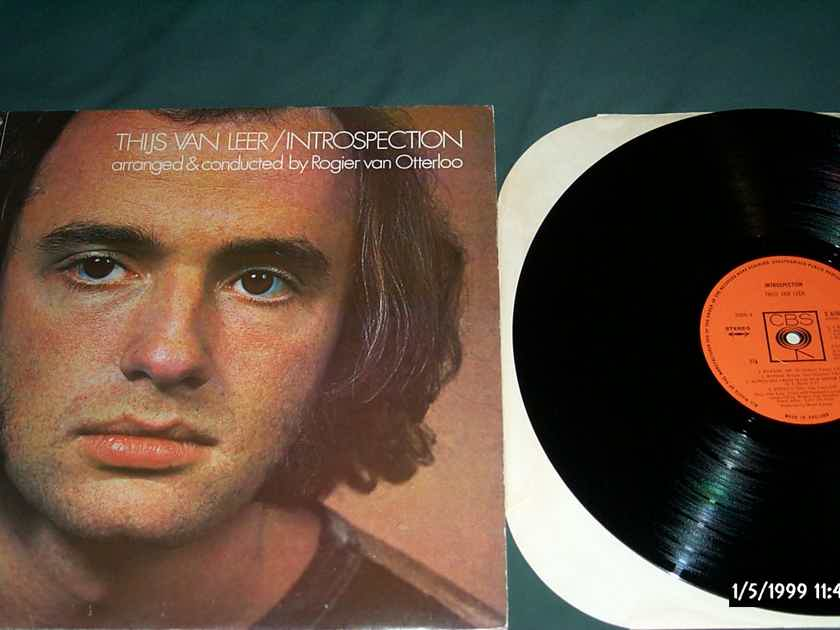 Thijs Van Leer (Focus) - Introspection CBS Records U.K. Pressing  Vinyl LP NM