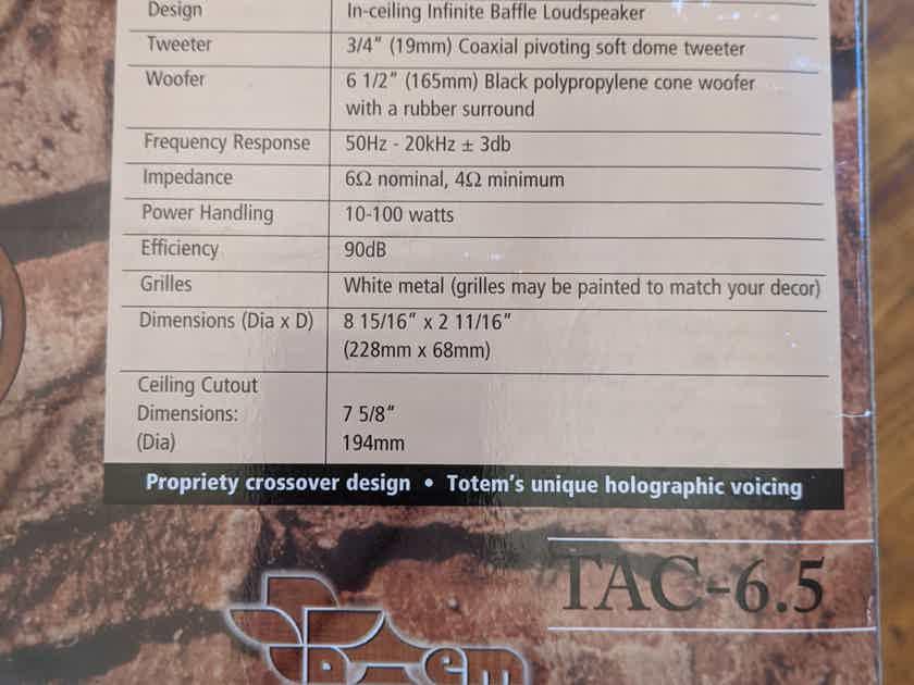 Totem Acoustic Mask TAC-6.5 in-ceiling speaker pair