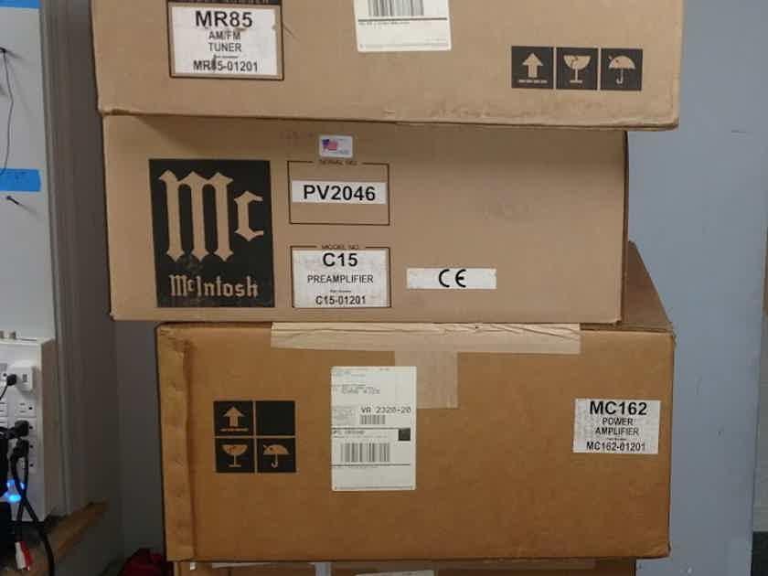 McIntosh C15, MC162, MR85, MVP841 PREAMP, POWER AMP, TUNER, DVD/CD NEW NEVER OPENED