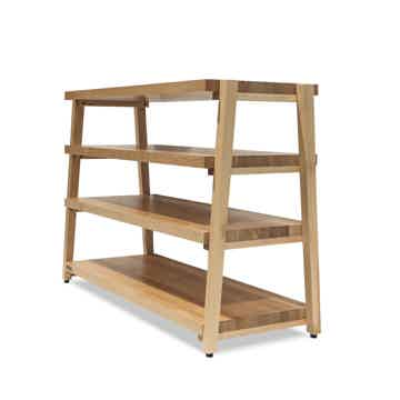"Butcher Block Acoustics rigidrack™ 30"" X 18"" - 4 Shelf - Maple Shelves - Maple Legs"