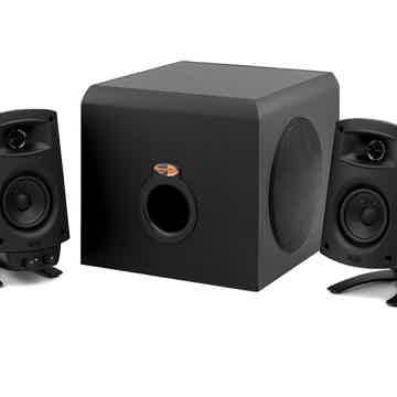 KLIPSCH ProMedia 2.1 Computer Speaker System (Ebony): E...