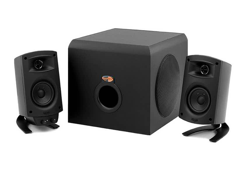 KLIPSCH ProMedia 2.1 Computer Speaker System (Ebony): EXCELLENT Refurb; 90 Day Warranty; 65% Off