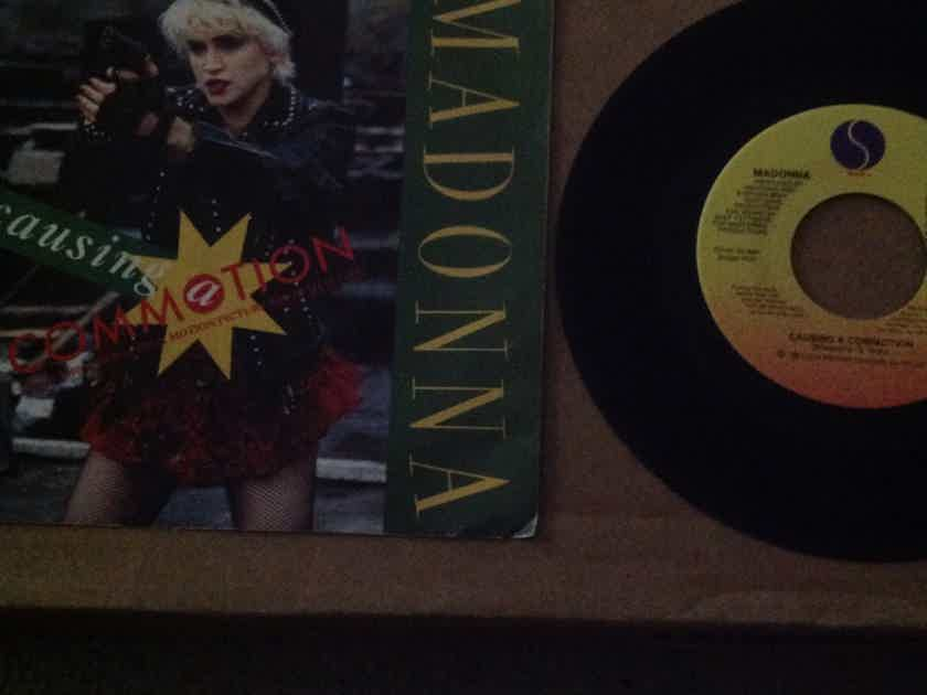 Madonna - Causing A  Commotion/Jimmy Jimmy  B Side Has No Record Label Sire Records Vinyl 45 Single NM