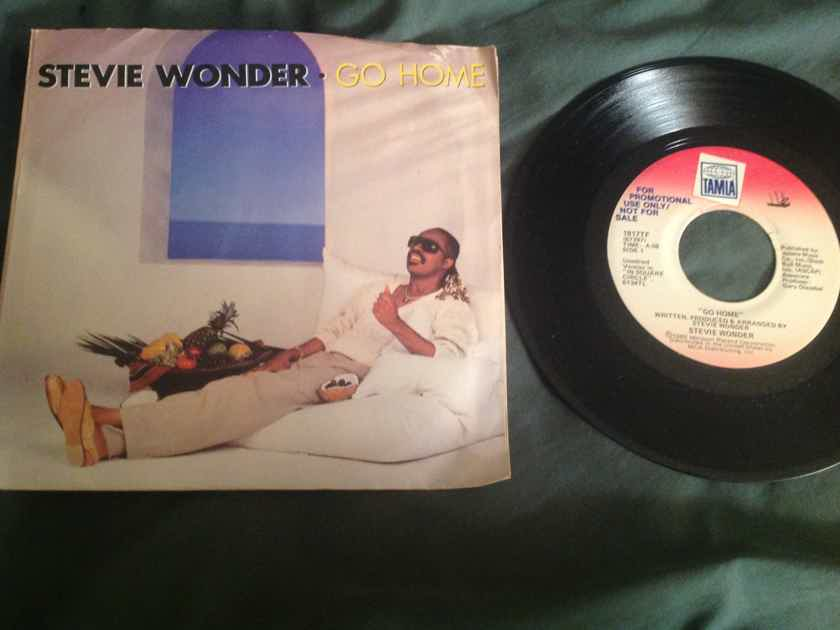 Stevie Wonder Go Home Tamla Records Promo 45 With Picture Sleeve