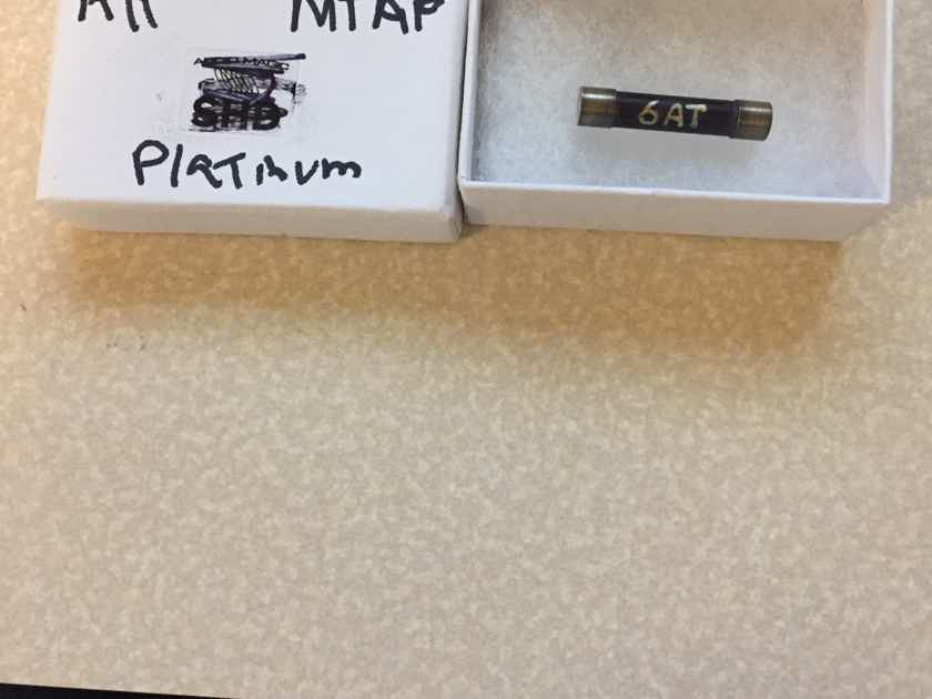 """Audio Horizons Platinum Reference """"More Than a Fuse"""" 6 Amp Slow Blow Large Fuse"""