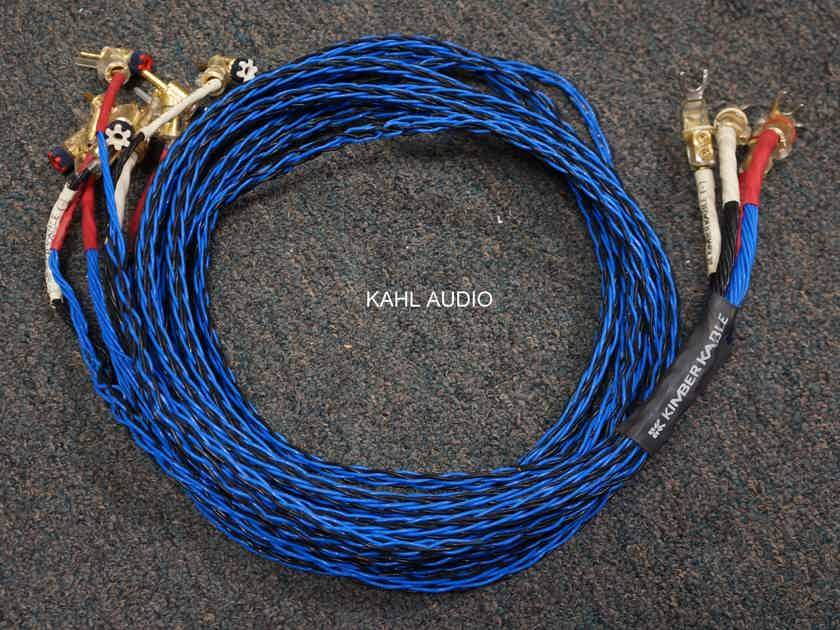 Kimber Kable 4TC/8TC speaker cables. 2m bi-wired pair w/WBT plugs. Positive reviews everywhere! $1,250 MSRP.