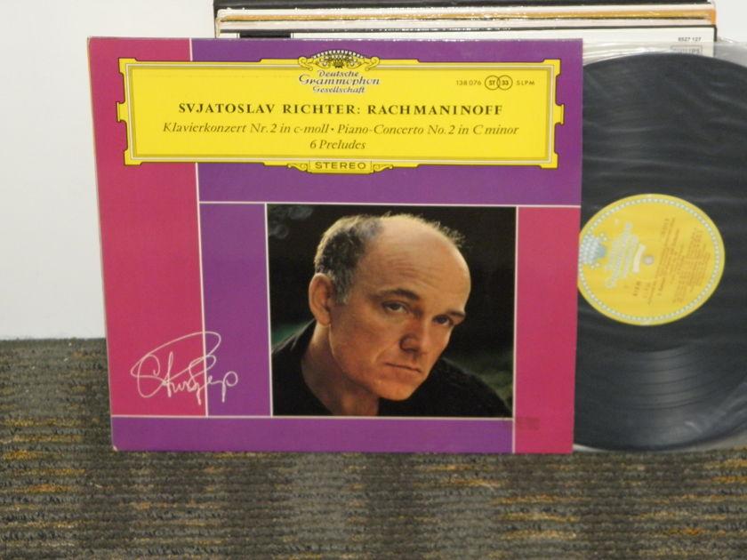 "Sviatoslav Richter/Wislocki/Nt'l Philharmo Warsaw - Rachmaninoff ""Concerto No 2+6 Preludes"" DGG 138 176 TULIP label STEREO LP"