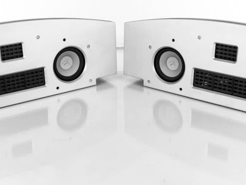 Martin Logan Fresco On Wall Surround Speakers; Silver Pair (No Grills) (21300)