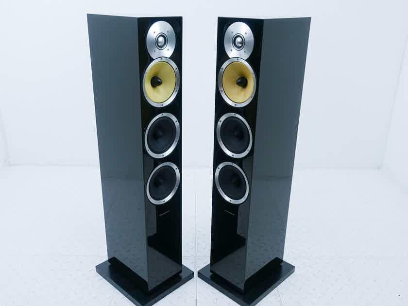 B&W CM8 Floorstanding Speakers Gloss Black Pair (14677)