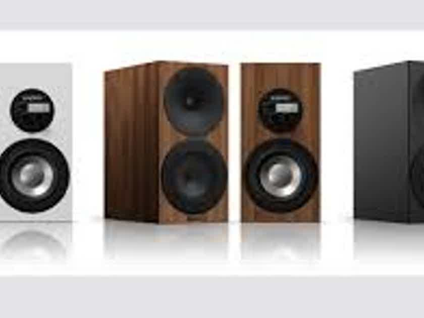 Amphion Argon 3S Walnut finish.
