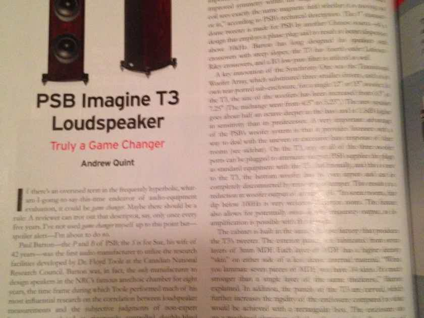 PSB T-3 Speaker Pair - Gloss Red Cherry - Sealed -MINT
