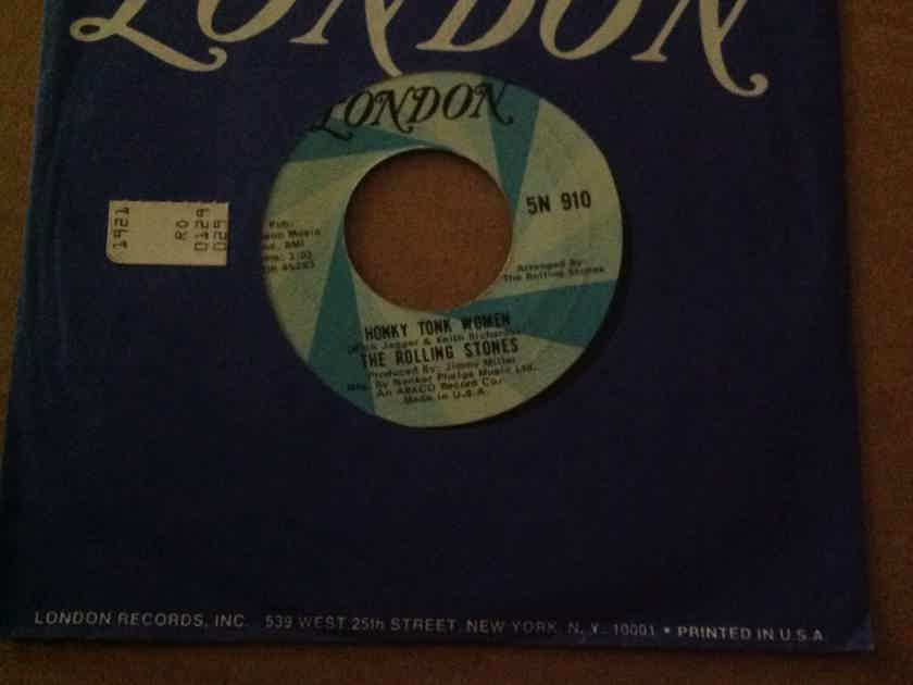 The Rolling Stones  - Honky Tonk Women You Can't Always Get What You Want London Records Vinyl 45