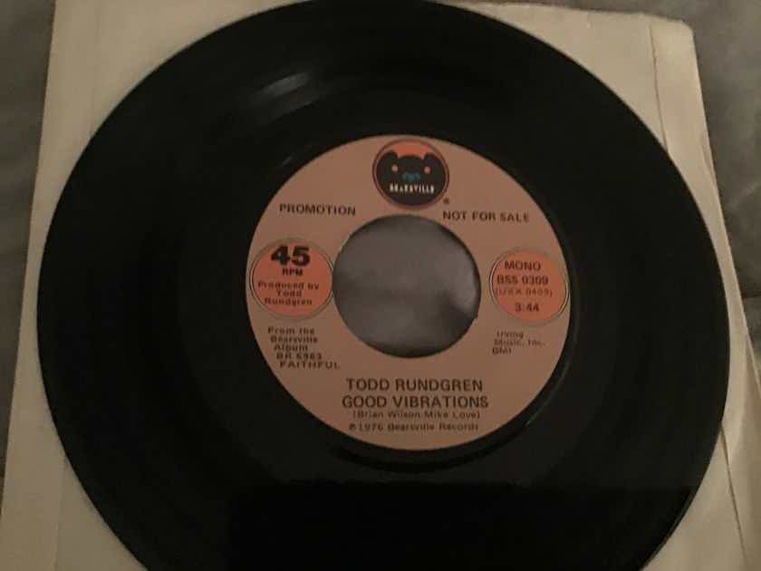 Todd Rundgren  Good Vibrations Promo Mono/Stereo 45  NM