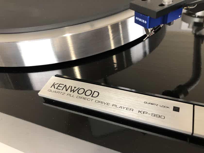 Kenwood KP-990 Turntable with New Sumiko Songbird Cartridge