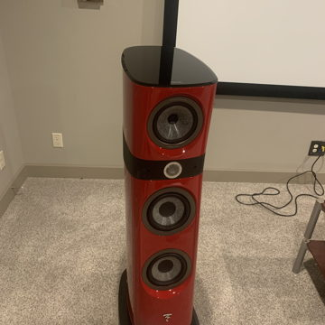 Focal Sopra 2 w/ CENTER in GORGEOUS RED with extras!