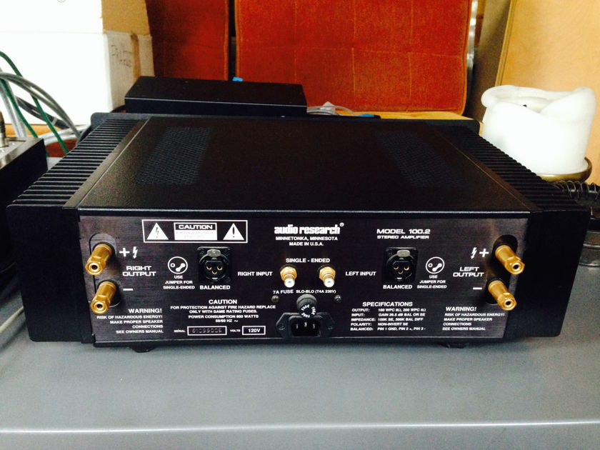 Audio Research 100.2 tube-like solid state