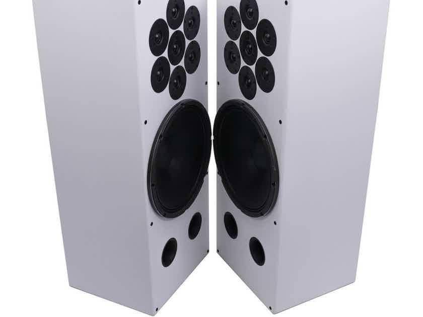 Tekton Design Perfect SET 15 Floorstanding Speakers; White Pair (No Grills) (26079)