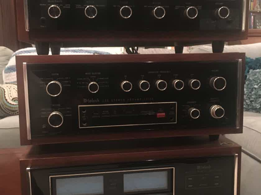 McIntosh MR78 Tuner C 32 pre amp MC 2125 amp
