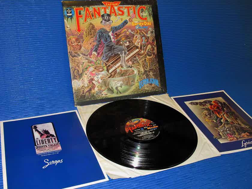 """ELTON JOHN - - """"Captain Fantastic"""" -  MCA 1975 w/scraps & lyric books"""