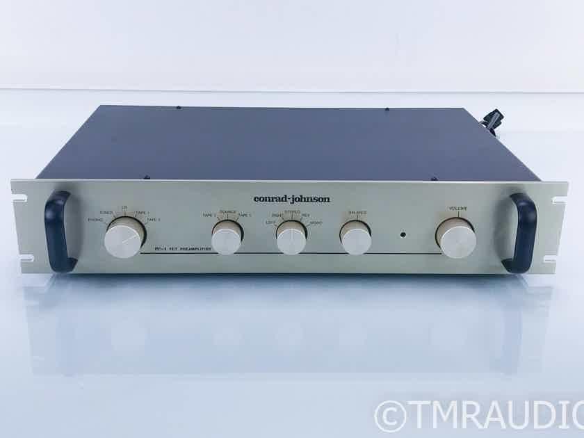 Conrad Johnson PF-1 Vintage Stereo Preamplifier; PF1; MM Phono (17732)