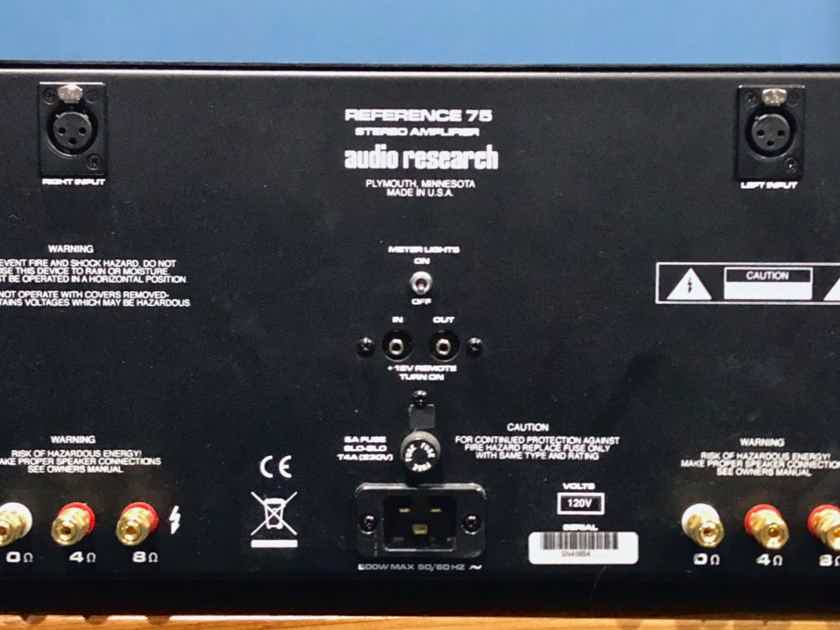 Audio Research Reference 75 w/KT-150 tubes in black PRICE DROP