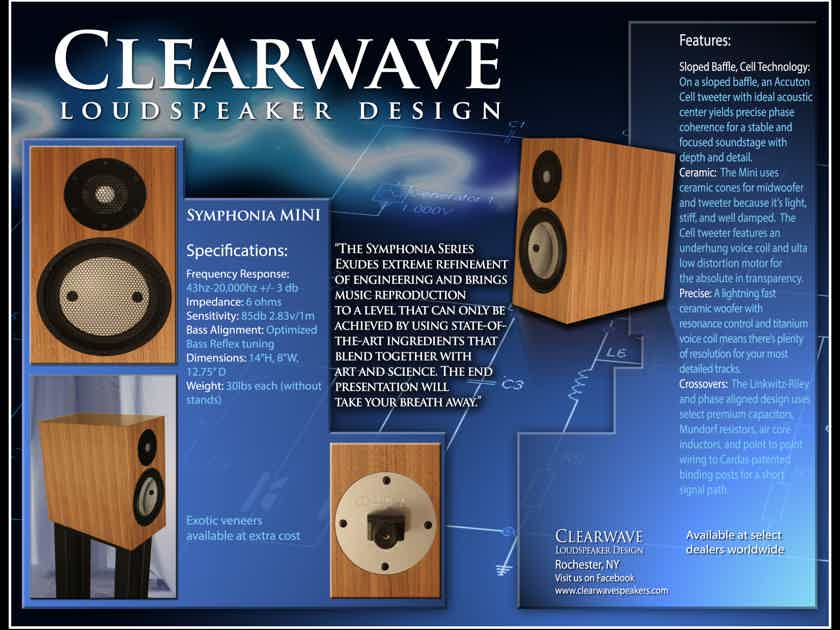 Clearwave Loudspeaker Design Symphonia Mini Accuton Cell tweeter! Lightning fast and transparent sound.