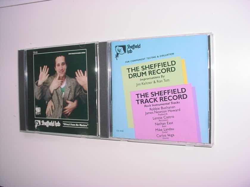 2 Sheffield Lab direct from the masters CD CD'S AS IS Track drum James Newton Howard