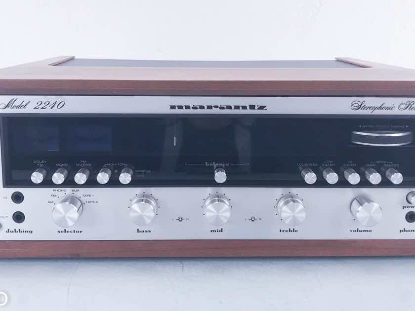 Marantz 2240 Vintage Stereo Receiver w/ Walnut Case; Factory Box; 1 Owner (11353)